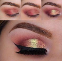 How to do Cranberry spritzer eye makeup tutorial