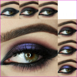 How to do purple smoke eye makeup tutorial?