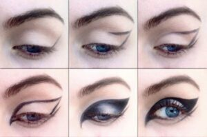 How to apply winged eyeliner in Arabic style
