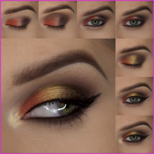 How to do maple leaf eye makeup tutorial