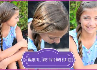 How to make braid waterfall twist rope hairstyle