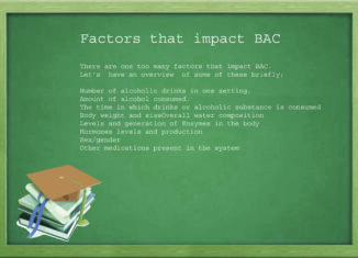 Which of the following is a key factor that influences BAC?