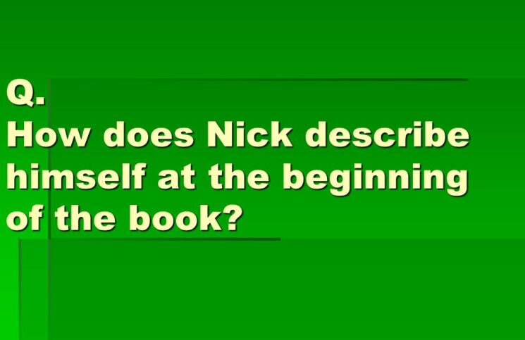 How Does Nick Describe Himself in the Beginning of The Book