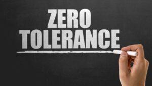 What is the zero tolerance law